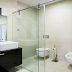 Lắp cửa lùa kính phòng tắm thiết kế đơn giản