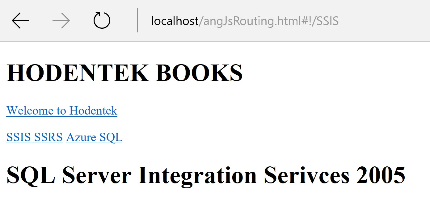 Page navigation in Single Page Applications! using AngularJS