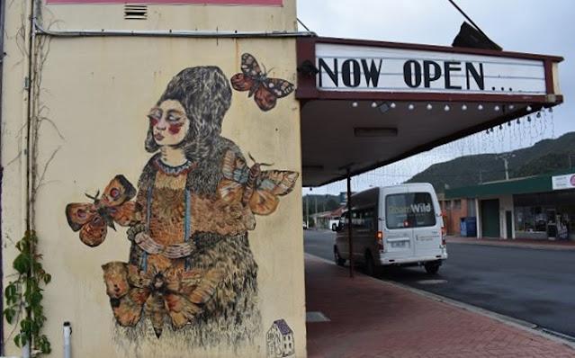 Queenstown mural by Brainfoetus   Street Art Tasmania