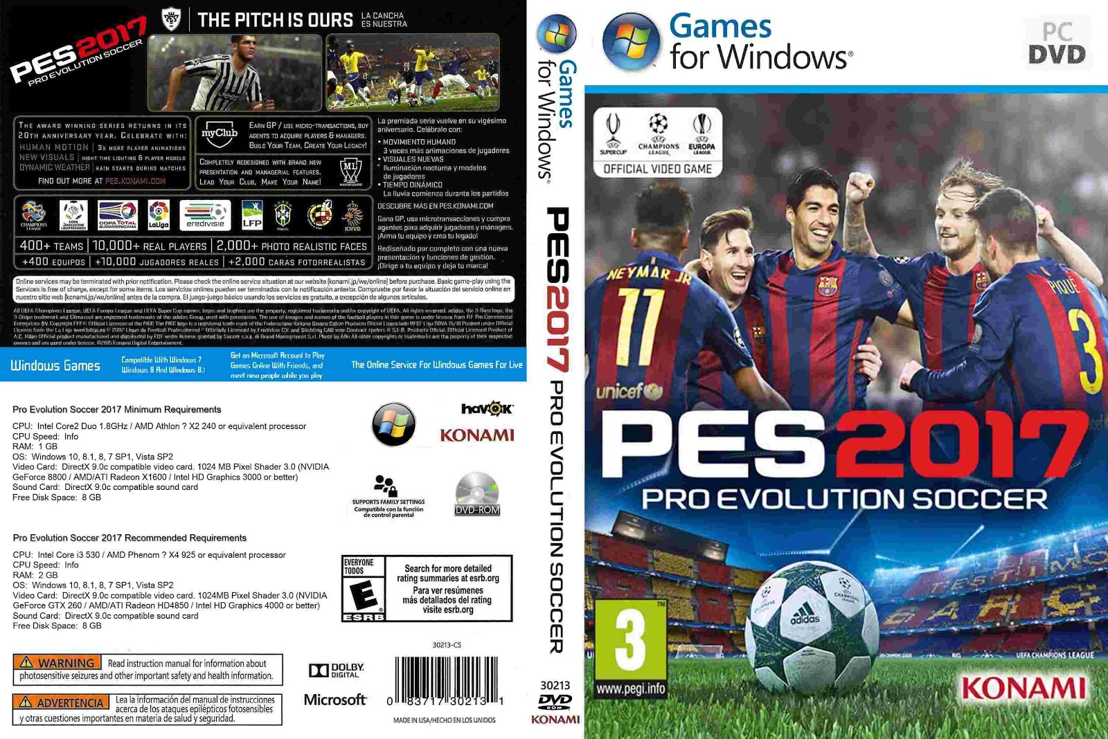 Download Pro Evolution Soccer 2017 PC Pro Evolution Soccer 2017 CUSTOM   Capa PC Game