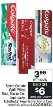 FREE Colgate Optic White Toothpaste at CVS