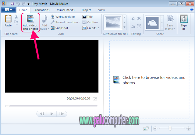 membuka video di movie maker