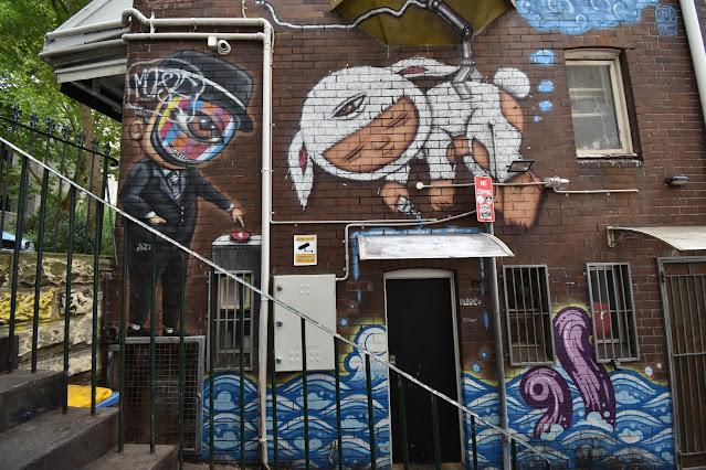 Street Art in Darlinghurst by Muebon & Alex Face