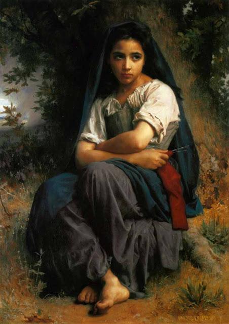 Адольф Вильям Бугро - Маленький вязальщица (1875)