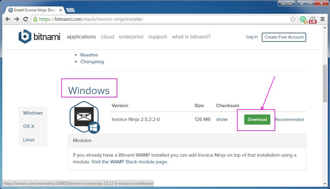 Codingtrabla Install InvoiceNinja On Windows Via Bitnami Installer - Invoice ninja