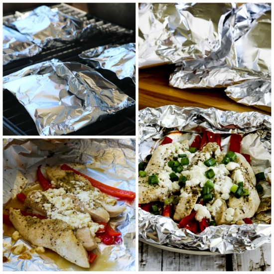 Low-Carb Grilled Greek Chicken Packets found on KalynsKitchen.com