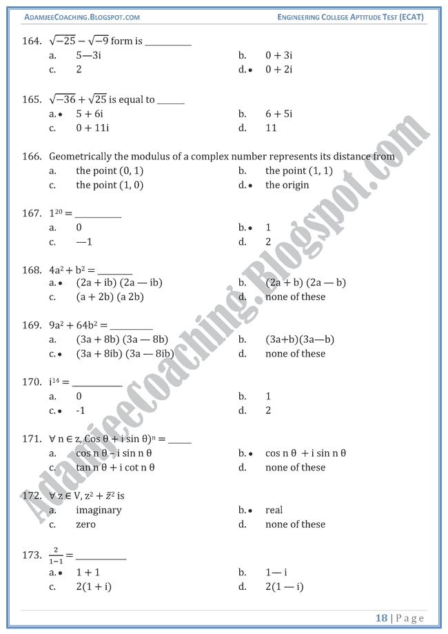 number-system-ecat-mathematics-mcqs-for-entry-test