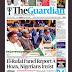 NIGERIA NEWSPAPERS: TODAY'S THE GUARDIAN NEWSPAPER HEADLINES [28 JANUARY, 2018].