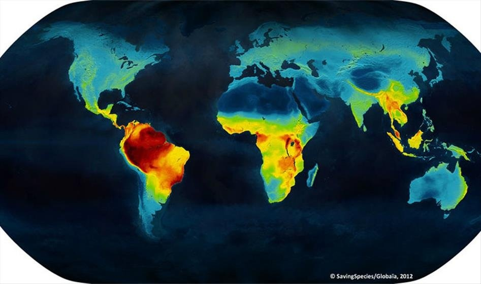 Biodiversity map of the World
