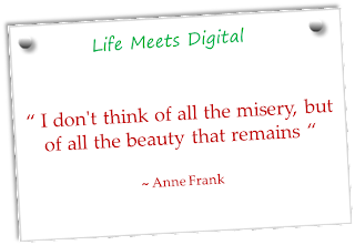 quote about misery and beauty by anne frank