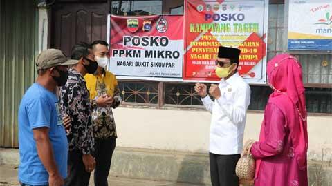 Ketua DPRD dan Bupati Limapuluh Kota Pantau Posko PPKM Nagari
