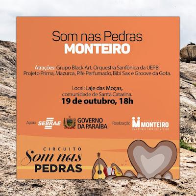Monteiro sedia neste Sábado, Circuito Som nas Pedras