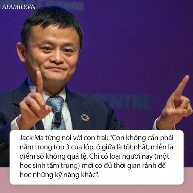Một bức hình chụp chung của Jack Ma và con trai.