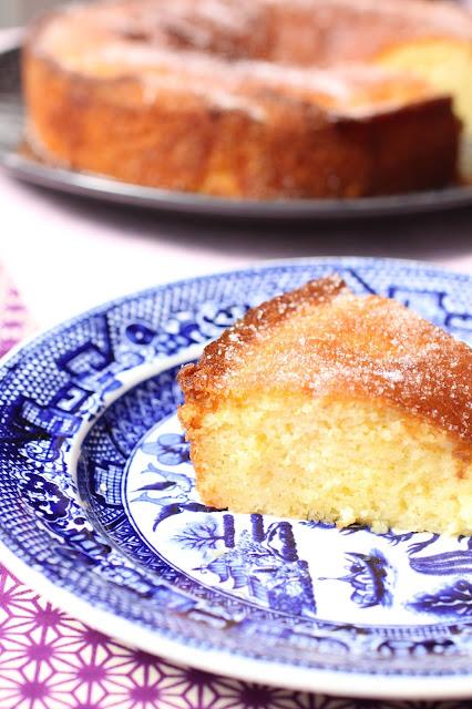 gateau cake fleurs de sureau citron