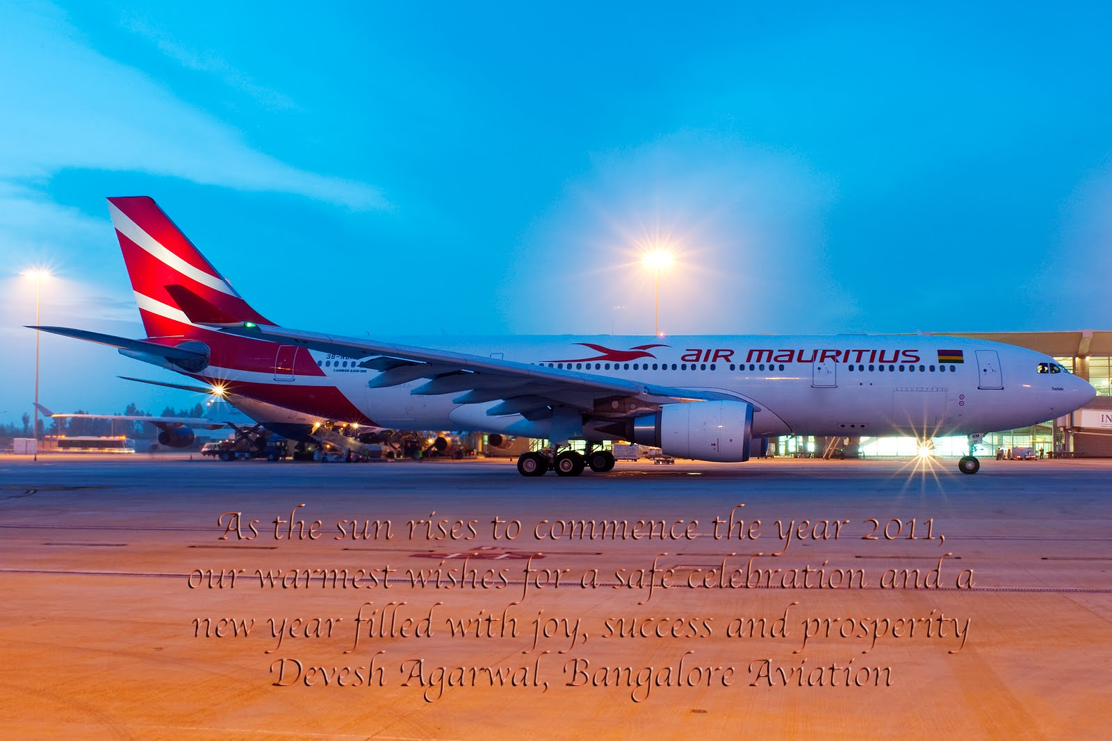 Plane spotting pictures: Air Mauritius Airbus A330 in the bluest