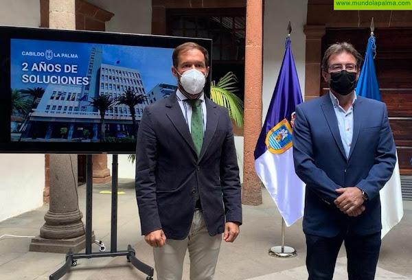 """El Cabildo conmemoró """"Dos años de soluciones para La Palma"""""""
