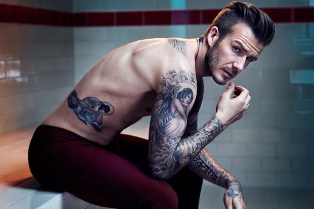 David Beckham presume su cuerpo semidesnudo 12