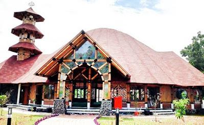 masjid dominan bambu style Perahu tengkurap