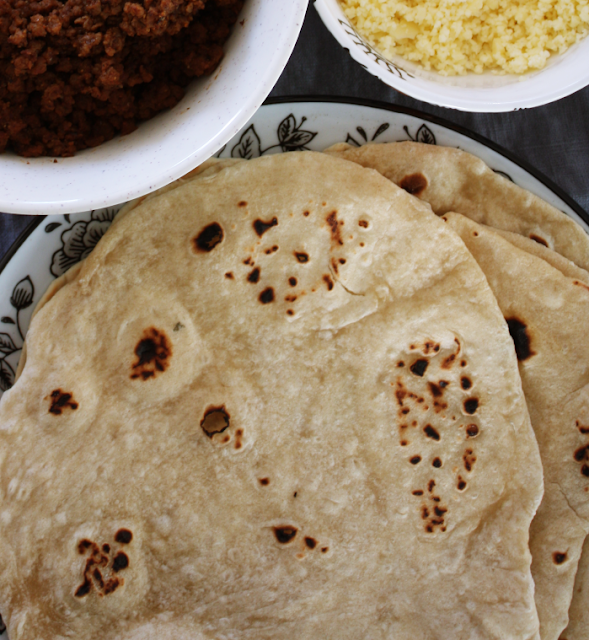 DIY homemade flour tortillas for taco nights