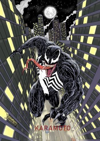 Venom arte de cómic