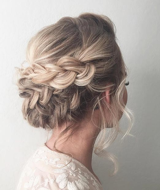 ROMANTIC BRAIDED UPDO prom hairstyles for long hair