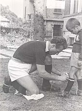Mazzola with his father, Valentino, a short time before his father died