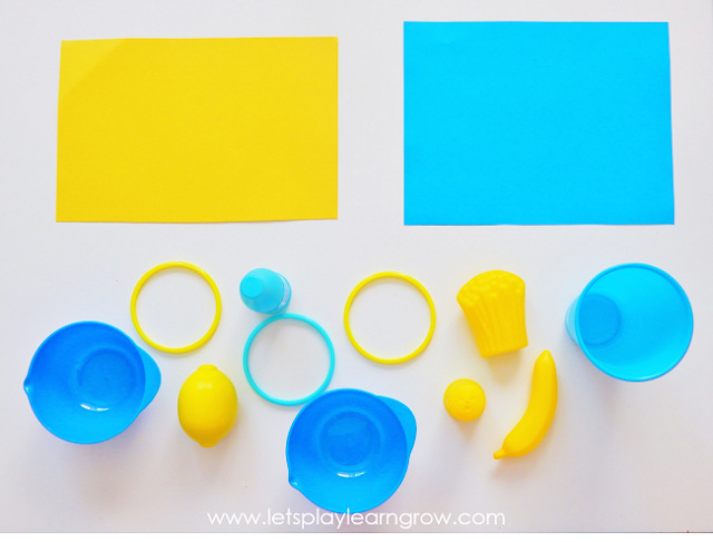 Color sorting using different items from around the house is a great way to see how well your toddlers and preschoolers can differentiate between their colors.