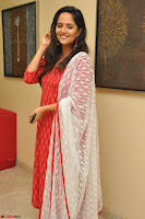 Anasuya Bharadwaj in Red at Kalamandir Foundation 7th anniversary Celebrations ~  Actress Galleries 050.JPG
