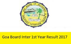 Goa Board Inter 1st Year Result 2017