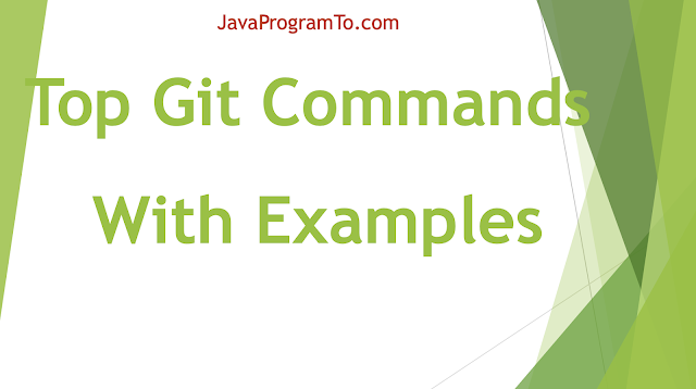 Top Git Commands With Examples