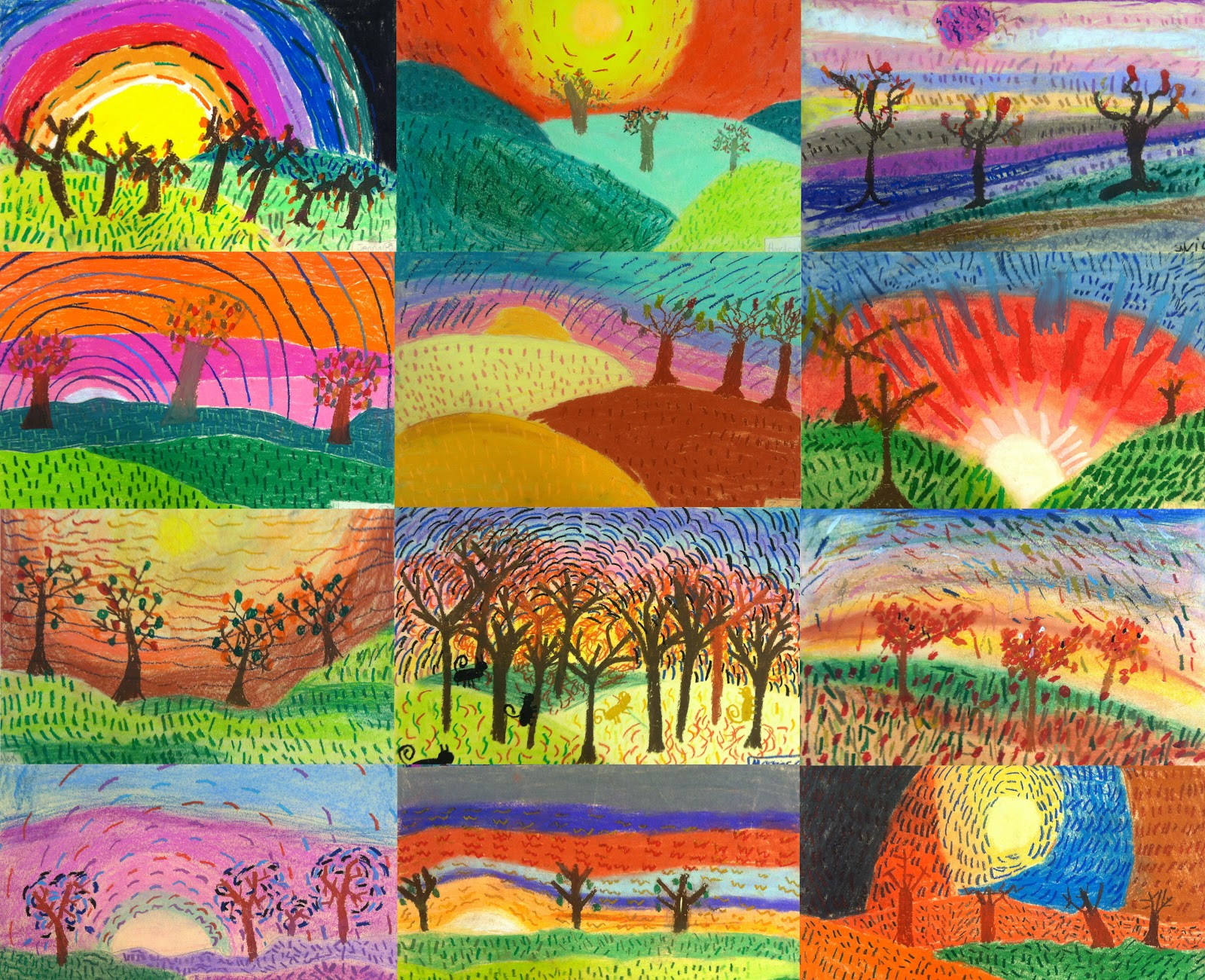 Fall Art Ideas For Grade 7