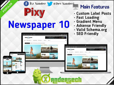 Download Pixy Newspaper 10 Premium Blogger Template 2021(FREE)