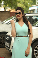 Manjusha in beautiful thin green gown At Jaya Janaki Nayaka le Logo Launch ~  Exclusive 111.JPG