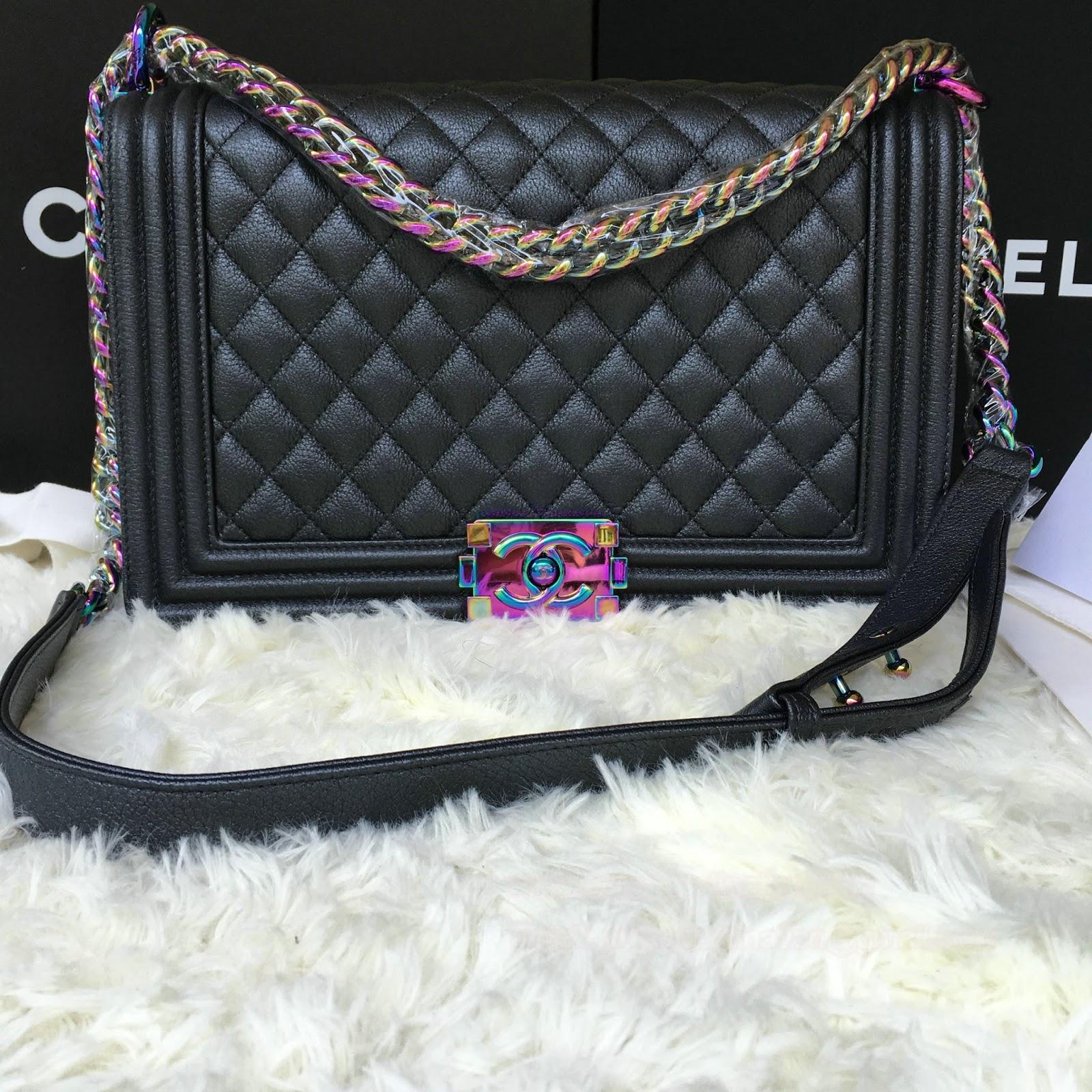 487c5777eb0b02 Chanel Le boy 28cm Classic Flap with Colorful Lock Best Original Quality  Pre shipment photos | Pursedestination Replica Bags Real Photos