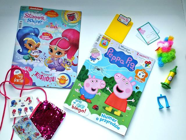 Peppa Pig i Shimmer i Shine - kreatywne magazyny dla najmłodszych.