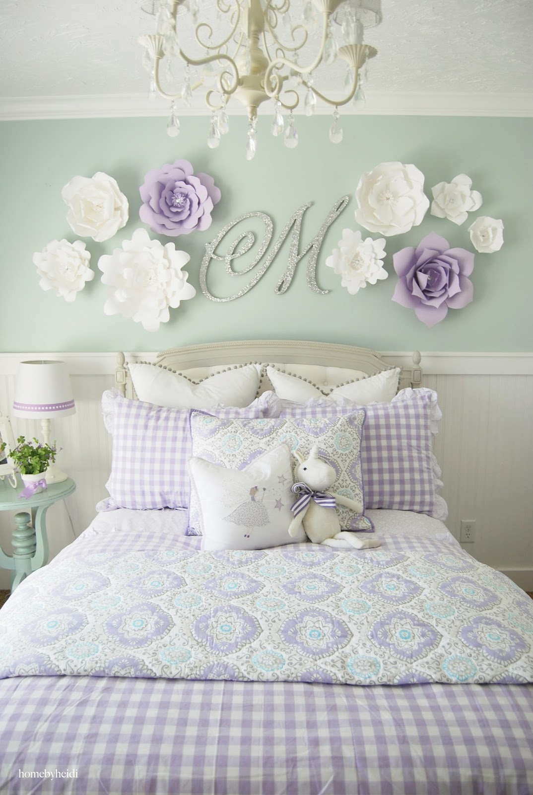 Home by heidi purple turquoise little girls room - How to decorate a girl room ...