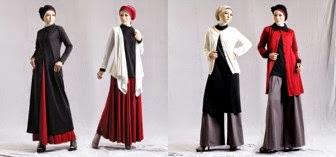 Aneka model baju muslim wanita terkini