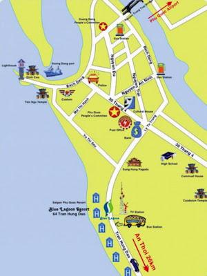 Mapa de Duong Dong - Capital de Isla Phu Quoc (Vietnam)