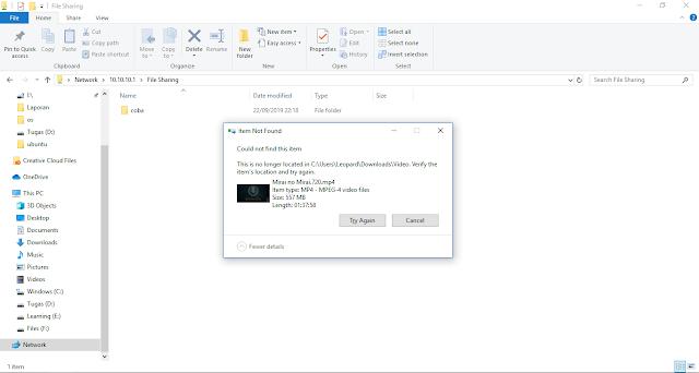 file tidak bisa diupload karena berekstensi .mp4