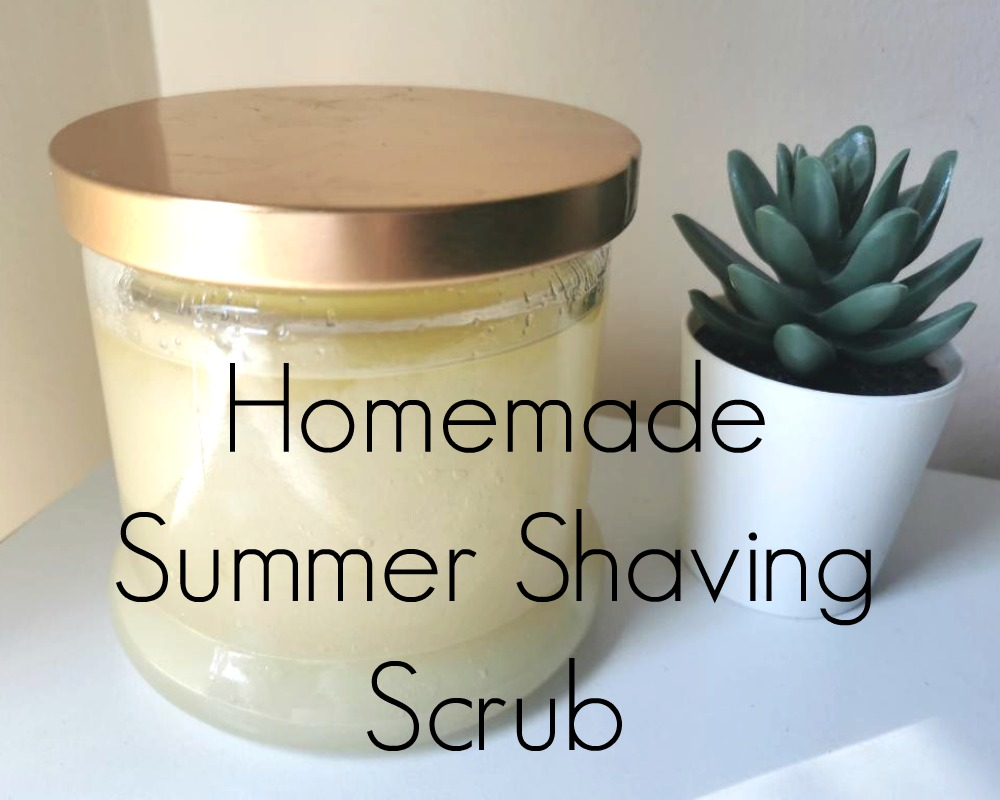 Homemade Summer Shaving Scrub