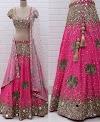 JOMSO (Dulcet pink Georgette mirror work lehenga choli)