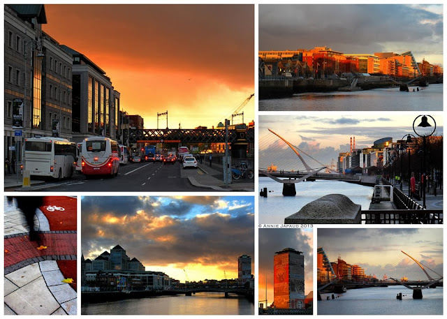 Dublin city © Annie Japaud 2013, photography, sunset, walking, tourist, collage, Ireland
