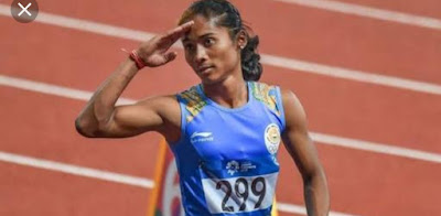 A Poem dedicated to Hima Das, Hindi Poem on Hima Das, Poem on Hima Das