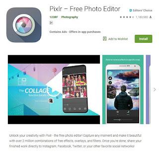 aplikasi edit foto terbaik dan terpopuler di android