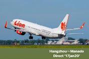 Rute Baru Hangzhou-Manado Terbang Perdana Besok