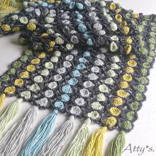 Crochet Candy Scarf Pattern