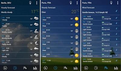 aplikasi transparent clock and weather