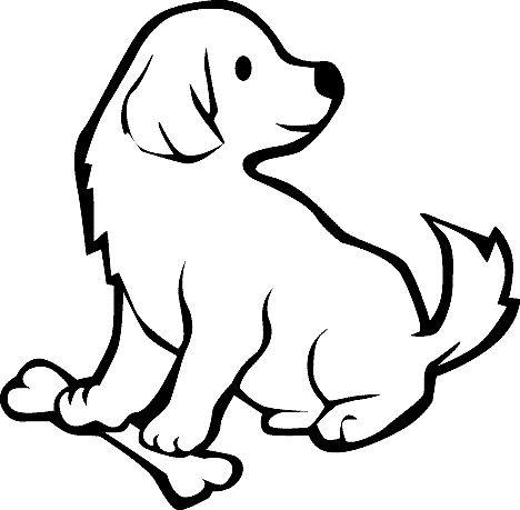 Hình tô màu con chó đẹp