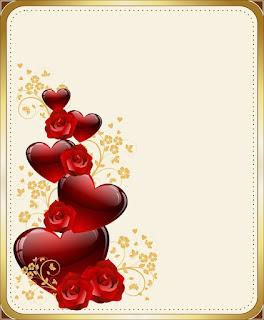 background bunga mawar merah untuk kata inta