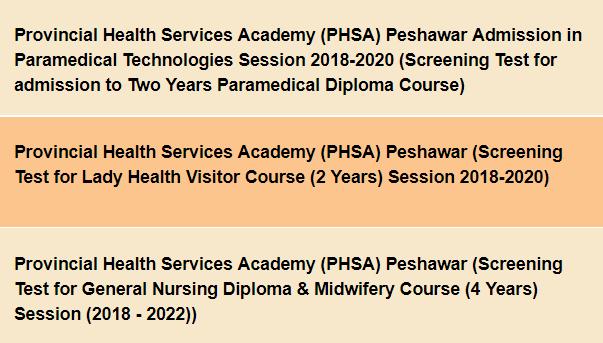 National Testing Service Admission In Lhv Nursing By Provincial